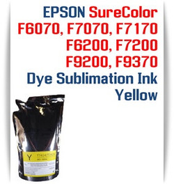 EPSON SureColor F6070, F7070, F7170, F6200, F7200, F9200, F9370 printer Dye Sublimation Ink - Yellow 1000ml bag with chip