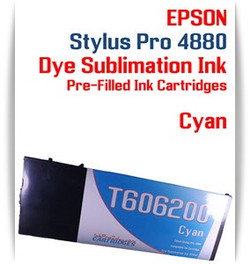 Cyan Epson Stylus Pro 4880 Dye Sublimation Ink Cartridge 220ml