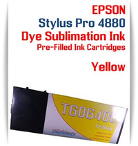 Yellow Epson Stylus Pro 4880 Dye Sublimation Ink Cartridge 220ml