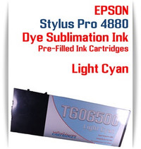 Light Cyan Epson Stylus Pro 4880 Dye Sublimation Ink Cartridge 220ml