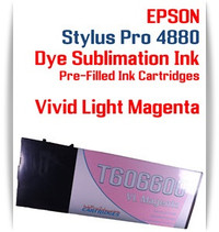 Vivid Light Magenta Epson Stylus Pro 4880 Dye Sublimation Ink Cartridge 220ml