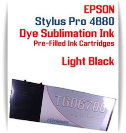 Light Black Epson Stylus Pro 4880 Dye Sublimation Ink Cartridge 220ml