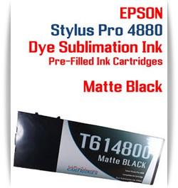 Matte Black Epson Stylus Pro 4880 Dye Sublimation Ink Cartridge 220ml