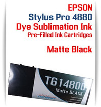 Matte Black Epson Stylus Pro 4880 Dye Sublimation Ink Cartridge 220ml