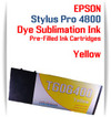 Yellow Epson Stylus Pro 4800 Dye Sublimation Ink Cartridges 220ml