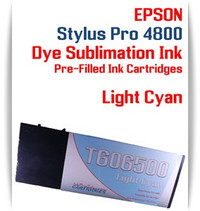 Light Cyan Epson Stylus Pro 4800 Dye Sublimation Ink Cartridges 220ml