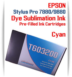 Cyan Epson Stylus Pro 7880/9880 Pre-Filled with Dye Sublimation Ink Cartridge 220ml