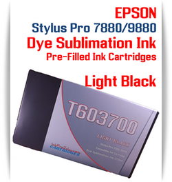 Light Black Epson Stylus Pro 7880/9880 Pre-Filled with Dye Sublimation Ink Cartridge 220ml