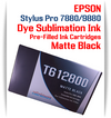 Matte Black Epson Stylus Pro 7880/9880 Pre-Filled with Dye Sublimation Ink Cartridge 220ml