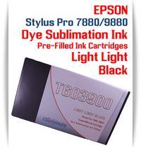 Light Light Black Epson Stylus Pro 7880/9880 Pre-Filled with Dye Sublimation Ink Cartridge 220ml