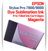 Magenta Epson Stylus Pro 7800/9800 Pre-Filled with Dye Sublimation Ink Cartridge 220ml each