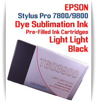 Light Light Black Epson Stylus Pro 7800/9800 Pre-Filled with Dye Sublimation Ink Cartridge 220ml each