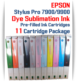 11 Cartridges - Epson Stylus Pro 7900/9900 Dye Sublimation Ink Cartridges