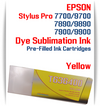 Yellow Epson Stylus Pro 7700/9700 Pre-Filled Dye Sublimation Ink Cartridge