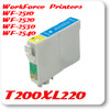 T200XL220 Cyan Epson WorkForce WF Inkjet Printer Compatible Ink Cartridges
