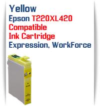 Yellow T220XL420 Epson Expression XP, WorkForce WF Compatible Printer Ink Cartridge  Epson Expression XP-320 Epson Expression XP-420 Epson Expression XP-424  Epson WorkForce WF-2630 Epson WorkForce WF-2650 Epson WorkForce WF-2660 Epson WorkForce WF-2750 Epson WorkForce WF-2760