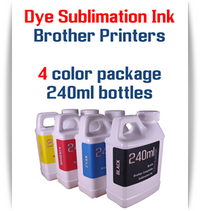 4 Color Dye Sublimation Ink Brother printers 240ml bottle ink