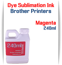 Magenta Dye Sublimation Ink Brother printers 240ml bottle ink