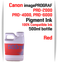 Red 500ml bottle Pigment Ink Canon imagePROGRAF PRO printers  CANON imagePROGRAF PRO-500, PRO-520, PRO-540, PRO-560, PRO-1000, PRO-2000, PRO-4000, PRO-6000 printers