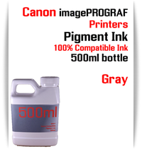Gray 500ml bottle Pigment Ink Canon imagePROGRAF iPF printers  CANON imagePROGRAF iPF6300, iPF6350, iPF6400, iPF6410, iPF6450, iPF6460, iPF8300, iPF8400, iPF8410, iPF9300, iPF9400, iPF9410 printers