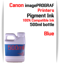 Blue 500ml bottle Pigment Ink Canon imagePROGRAF iPF printers  CANON imagePROGRAF iPF6300, iPF6350, iPF6400, iPF6410, iPF6450, iPF6460, iPF8300, iPF8400, iPF8410, iPF9300, iPF9400, iPF9410 printers