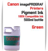 Green 500ml bottle Pigment Ink Canon imagePROGRAF iPF printers  CANON imagePROGRAF iPF6300, iPF6350, iPF6400, iPF6410, iPF6450, iPF6460, iPF8300, iPF8400, iPF8410, iPF9300, iPF9400, iPF9410 printers