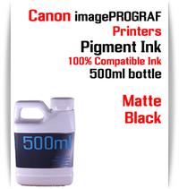 Matte Black 500ml bottle Pigment Ink Canon imagePROGRAF iPF printers  CANON imagePROGRAF iPF6300, iPF6350, iPF6400, iPF6410, iPF6450, iPF6460, iPF8300, iPF8400, iPF8410, iPF9300, iPF9400, iPF9410 printers