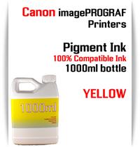 Yellow 1000ml bottle Pigment Ink Canon imagePROGRAF iPF printers  CANON imagePROGRAF iPF6300, iPF6350, iPF6400, iPF6410, iPF6450, iPF6460, iPF8300, iPF8400, iPF8410, iPF9300, iPF9400, iPF9410 printers