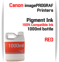 Red 1000ml bottle Pigment Ink Canon imagePROGRAF iPF printers  CANON imagePROGRAF iPF6300, iPF6350, iPF6400, iPF6410, iPF6450, iPF6460, iPF8300, iPF8400, iPF8410, iPF9300, iPF9400, iPF9410 printers