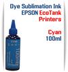 Cyan EPSON EcoTank 100ml bottle Dye Sublimation Bottle Ink