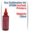 Magenta EPSON EcoTank 100ml bottle Dye Sublimation Bottle Ink
