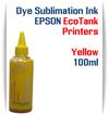 Yellow EPSON EcoTank 100ml bottle Dye Sublimation Bottle Ink