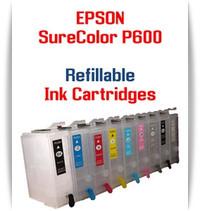 9 - Refillable Ink Cartridges Epson SureColor P600 printer