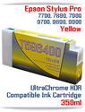 T596400 Yellow Epson Stylus Pro 7700/9700, 7890/9890, 7900/9900 UtraChrome HDR Pigment Compatible Ink Cartridge 350ml
