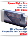 T596700 Light Black Epson Stylus Pro 7890/9890, 7900/9900 UtraChrome HDR Pigment Compatible Ink Cartridge 350ml