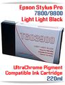 T603900 Light Light Black Epson Stylus Pro 7800/9800 Compatible Pigment Ink Cartridges 220ml
