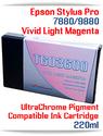 T603600 Vivid Light Magenta Epson Stylus Pro 7880, 9880 Compatible Pigment Ink Cartridges 220ml