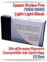 T603900 Light Light Black Epson Stylus Pro 7880, 9880 Compatible Pigment Ink Cartridges 220ml