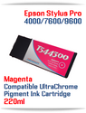 T544300 Magenta Epson Stylus Pro 7600/9600 Compatible Pigment Ink Cartridges 220ml