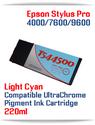 T544500 Light Cyan Epson Stylus Pro 7600/9600 Compatible Pigment Ink Cartridges 220ml