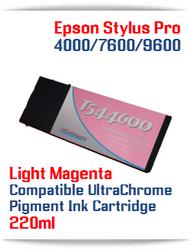 T544600 Light Magenta Epson Stylus Pro 7600/9600 Compatible Pigment Ink Cartridges 220ml