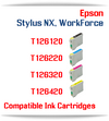 Epson Stylus NX, WorkForce Compatible Printer Ink Cartridges, T126120 Black, T126220 Cyan, T126320 Magenta, T126420 Yellow