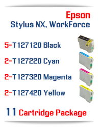 11 Cartridge Package T127 Epson WorkForce Compatible Ink Cartridges
