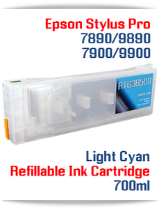 Light Cyan Epson Stylus Pro 7890/9890 Refillable Ink Cartridges