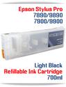 Light Black Epson Stylus Pro 7890/9890 Refillable Ink Cartridges