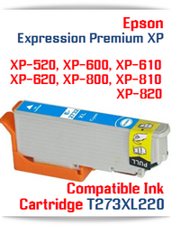 T273XL220 Cyan Epson Expression Premium XP Compatible Printer Ink Cartridge