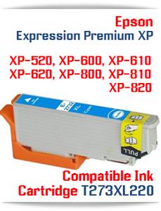 T273XL220 Cyan Epson Expression Premium XP Compatible Printer Ink Cartridge