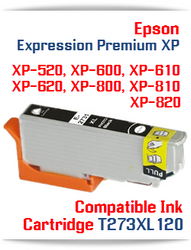T273XL120 Photo Black Epson Expression Premium XP Compatible Printer Ink Cartridge