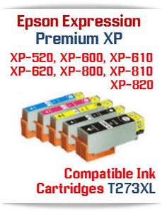 Epson Expression Premium XP-520, XP-600, XP-610, XP-620, XP-800, XP-810, XP-820 Small in One Compatible Ink Cartridges