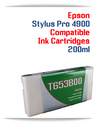 T653B00 Green Epson Stylus Pro 4900 Compatible Pigment Ink Cartridge